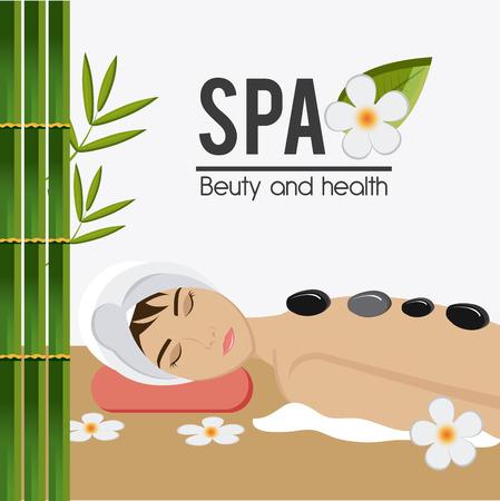 beauty therapist: SPA design over white background, vector illustration. Illustration