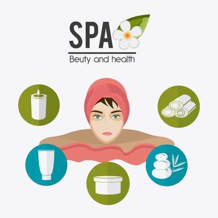 alternative therapy: SPA design over white background, vector illustration. Illustration