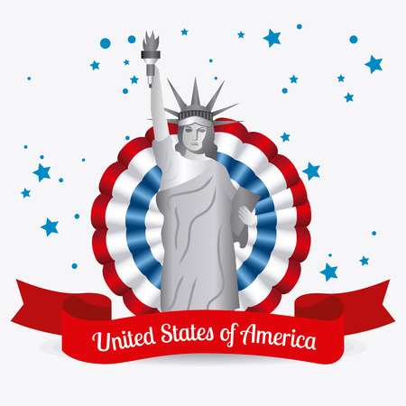 흰색 배경, 벡터 일러스트 레이 션을 통해 미국 디자인입니다.