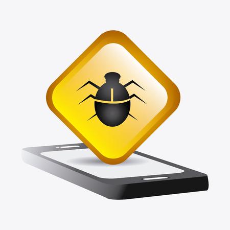 animal private: Security system design over white background, vector illustration. Illustration
