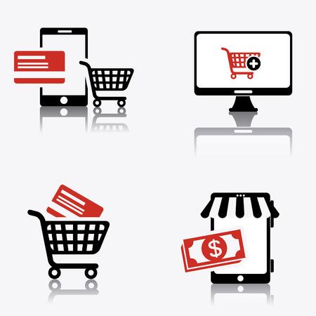 nternet: Online payments design over white background, vector illustration.