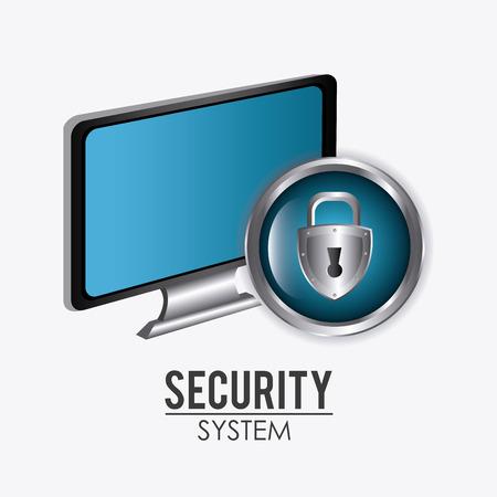 security service: Security system design over white background, vector illustration. Illustration