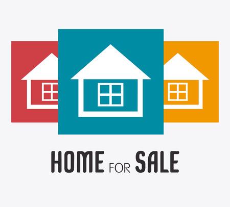 hometown: Real estate design over white background, vector illustration.