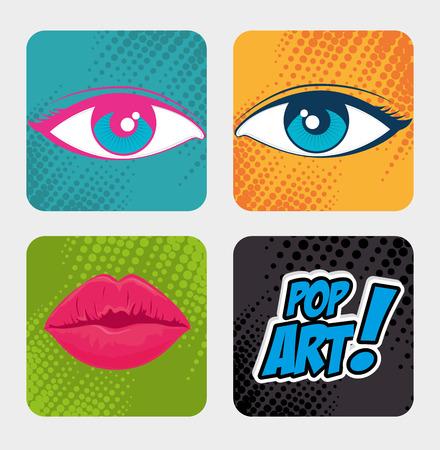 ove: Comic design ove colorful background, vector illustration. Illustration