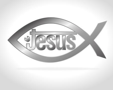 cristianismo: Dise�o cristianismo sobre fondo blanco, ilustraci�n vectorial.