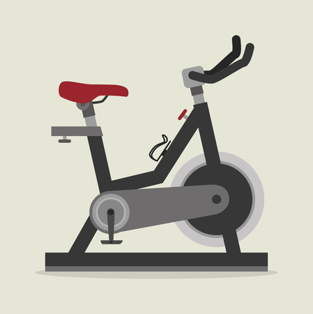 static bike: Fitness design over beige background, vector illustration.