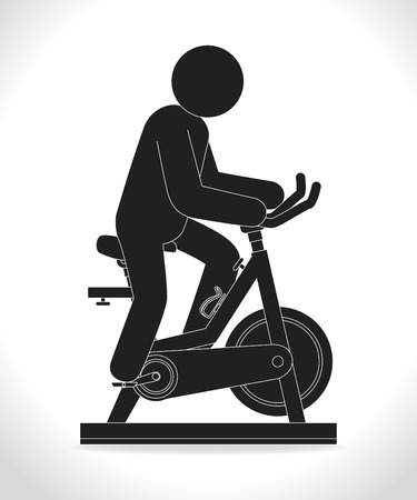 static bike: Fitness design over white background, vector illustration.