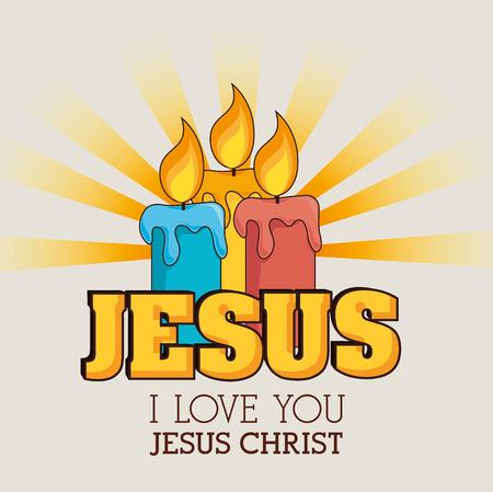 cristianismo: Dise�o cristianismo sobre fondo beige, ilustraci�n vectorial.