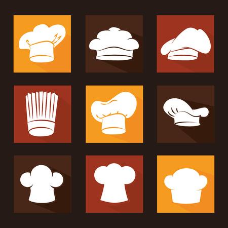 nutriments: Restaurant design over black background ,vector illustration.
