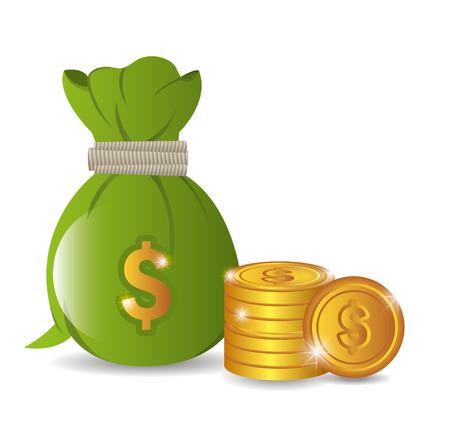 la conception d'argent sur fond blanc, illustration vectorielle.