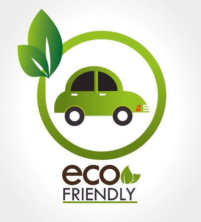 turismo ecologico: Diseño de Ecología sobre fondo blanco, ilustración vectorial.