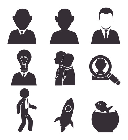 entrepeneur: Business design over white background, vector illustration.