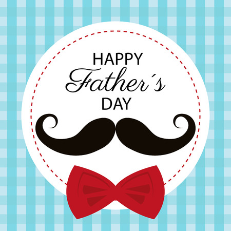 father: Happy fathers day card design, vector illustration.