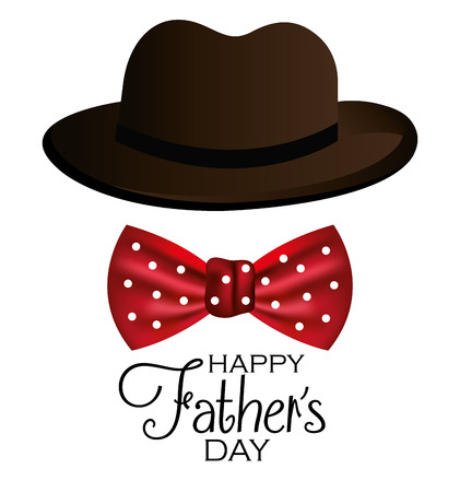 Happy fathers day card design, vector illustration. Stock Vector - 40416564