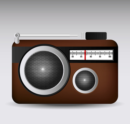 vibrations: Radio design over gray background, vector illustration.
