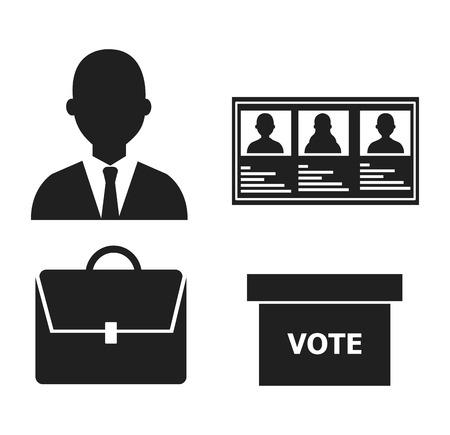 minister: Politics design over white background, vector illustration.