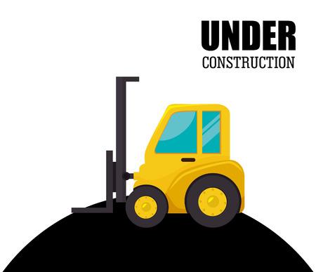 Under construction design over white background, vector illustration. Vector