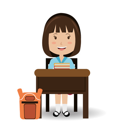 cartoon human: School design over white background, vector illustration. Illustration