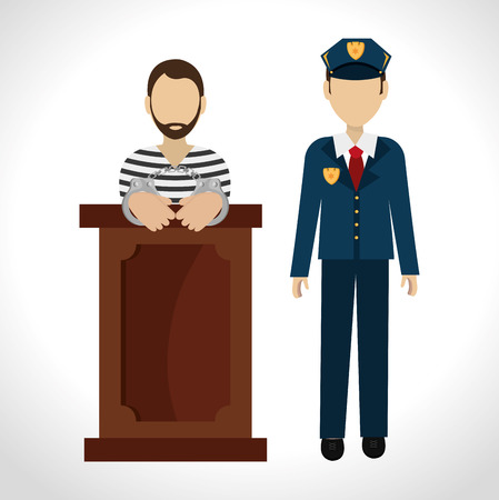 Law design over white background, vector illustration. 向量圖像