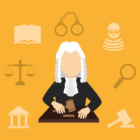 seach: Law design over yellow background, vector illustration.
