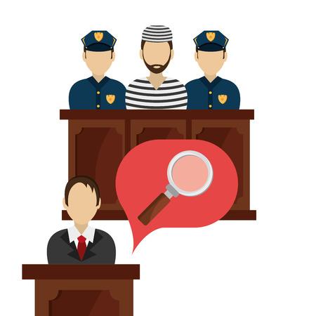 judicial: Law design over white background, vector illustration. Illustration