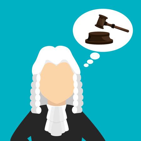 judicial: Law design over blue background, vector illustration. Illustration