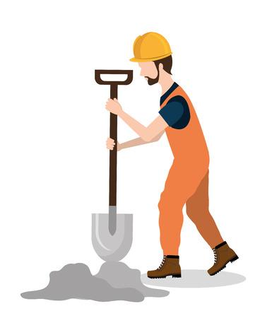 dig up: Construction design over white background ,vector illustration. Illustration