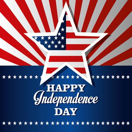 미국 독립 기념일 카드 디자인, 벡터 일러스트 레이 션입니다.