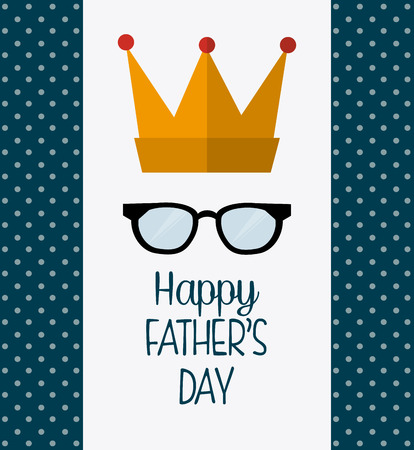 daddy: Happy fathers day card design, vector illustration.