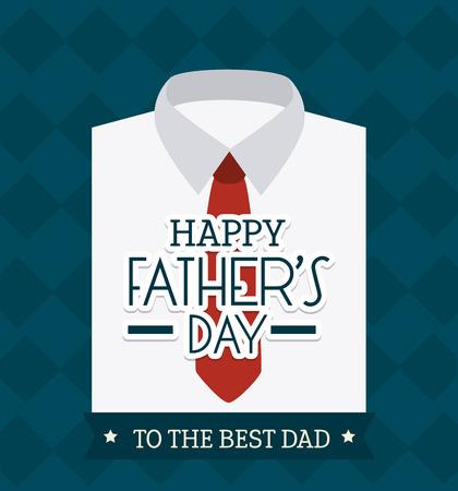 Glückliche Vatertagskarte Design, Vector Illustration.