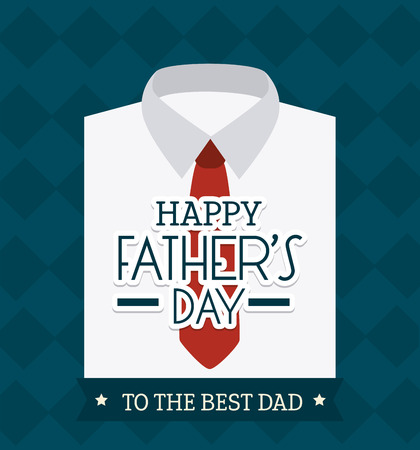 Happy fathers day card design, vector illustration. 版權商用圖片 - 40417016