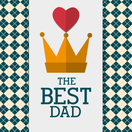 mister: Happy fathers day card design, vector illustration.