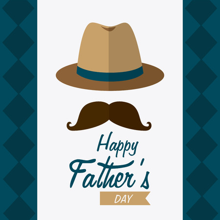 happy days: Happy fathers day card design, vector illustration.