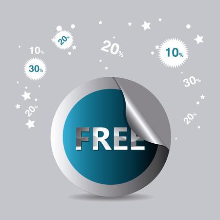 premium member: Free design over gray background, vector illustration. Illustration