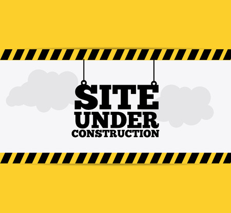 Under construction design over yellow background, vector illustration.