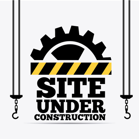 Under construction design over white background, vector illustration. 向量圖像