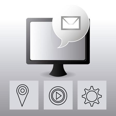 socialising: Social media design over white background, vector illustration.