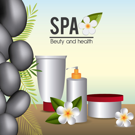 bodycare: SPA design over white background, vector illustration. Illustration
