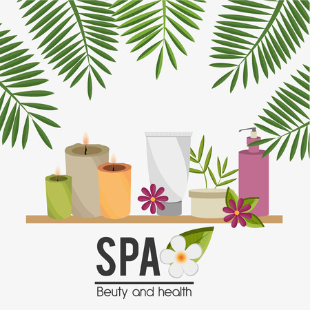 beauty salon: SPA design over white background, vector illustration. Illustration
