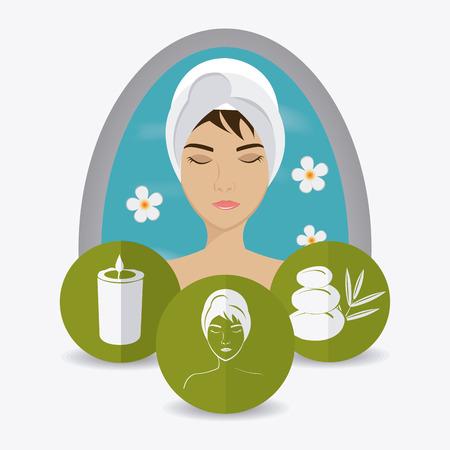 medical shower: SPA design over white background, vector illustration. Illustration