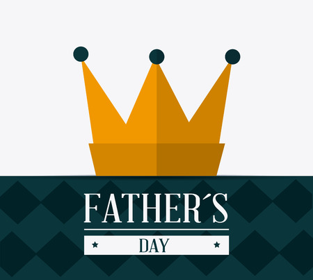 sir: Happy fathers day card design, vector illustration.