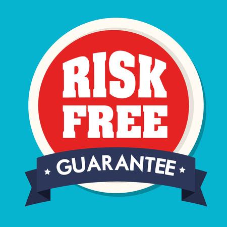 premium member: Risk free design over blue background, vector illustration.