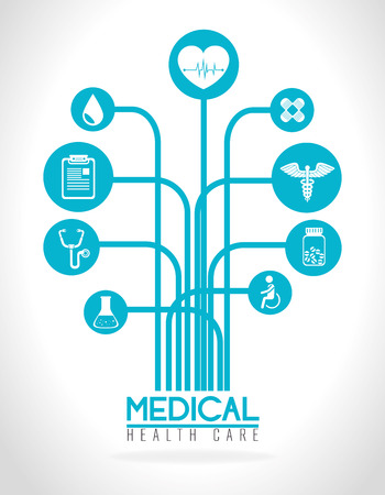 wheelchair users: Medical design over white background, vector illustration. Illustration