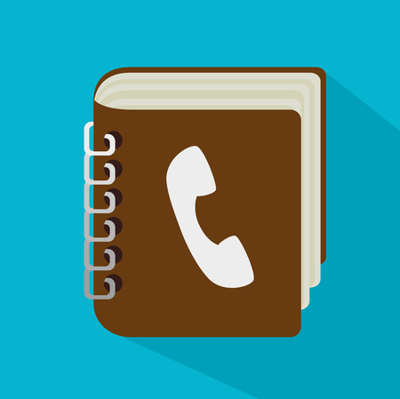 communicator: Phone design over blue background, vector illustration. Illustration
