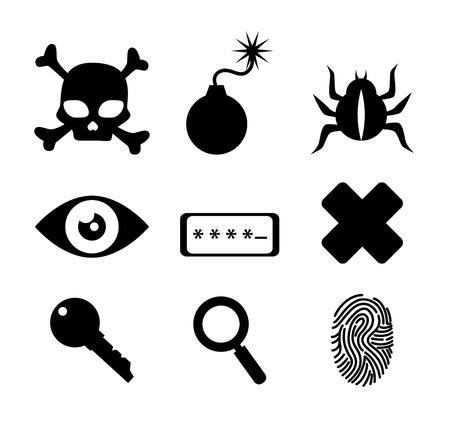 explosive watch: Security system design over white background, vector illustration. Illustration
