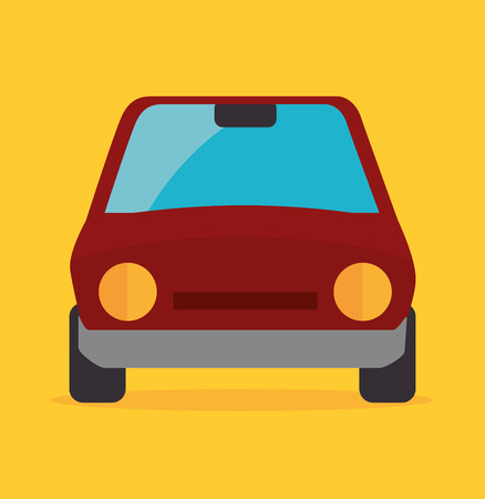 power delivery: Vehicle industry design over yellow background, vector illustration.
