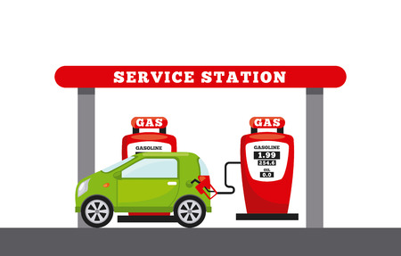 service station design, vector illustration eps10 graphic Vector