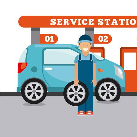 service station: service station design, vector illustration eps10 graphic