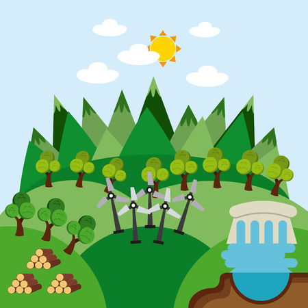 ressources naturelles: natural resources design, vector illustration eps10 graphic Illustration
