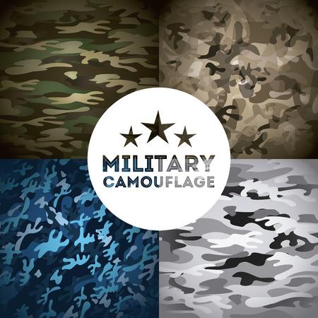 military camouflage design, vector illustration eps10 graphic Illustration